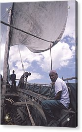 Pemba Boat Acrylic Print by Marcus Best