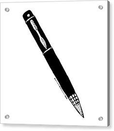 Pen Acrylic Print by Karl Addison