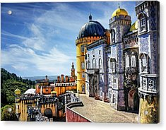 Acrylic Print featuring the photograph Pena Palace In Sintra Portugal  by Carol Japp