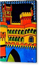 Pena Palace Portugal Acrylic Print by Dora Hathazi Mendes