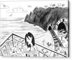 Pencil Drawing - Cartoon Illustration Acrylic Print by Arte Venezia