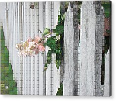 Pencil Mosaic Acrylic Print by Tingy Wende