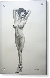 Pencil Nude 14 Acrylic Print