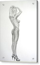 Pencil Nude 16 Acrylic Print