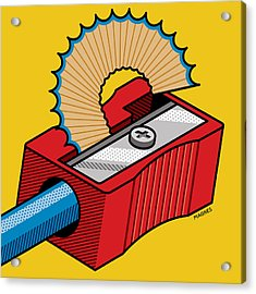 Acrylic Print featuring the digital art Pencil Sharpener by Ron Magnes