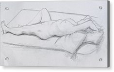 Pencil Sketch 1.2011 Acrylic Print by Mira Cooke