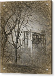 Pencil Sketch Of Beacon Hill Acrylic Print