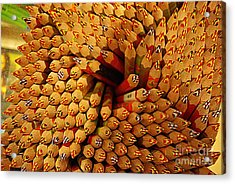 Pencils Pencils Everywhere Pencils Get The Point...lol Acrylic Print