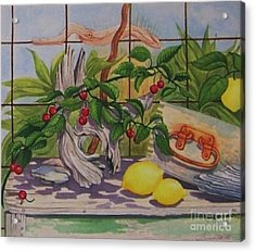 Penelope Acrylic Print by Janet Summers-Tembeli