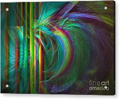 Acrylic Print featuring the digital art Penetrated By Life - Abstract Art by Sipo Liimatainen