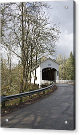 Pengra Covered Bridge Acrylic Print by John Higby