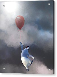 Penguin Escape Acrylic Print