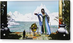 Penguin Magic And The Winter Witch Acrylic Print by Bob Orsillo