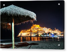 Peniscola Umbrella-spain Acrylic Print