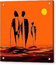 Penman Origiinal-295-long Walk Home Acrylic Print