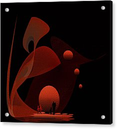 Penman Original-451 Out Of The Rat Race Into A Space Of Wellbeing Acrylic Print by Andrew Penman