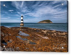Penmon Lighthouse Acrylic Print by Adrian Evans