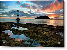 Penmon Lighthouse Anglesey Acrylic Print by Mal Bray