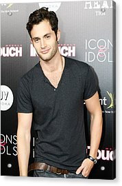 Penn Badgley At Arrivals For In Touch Acrylic Print by Everett