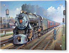 Acrylic Print featuring the painting Penn Central Pacific. by Mike Jeffries