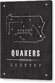 Penn Quakers Country Acrylic Print by Damon Gray
