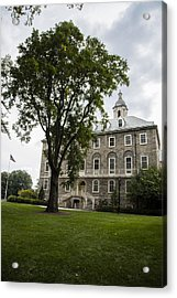 Penn State Old Main From Side  Acrylic Print by John McGraw