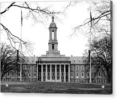 Acrylic Print featuring the photograph Penn State Old Main by Mary Beth Landis