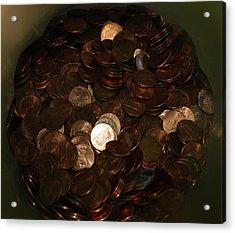 Pennies Acrylic Print by Rob Hans