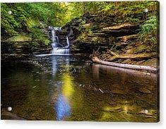 Pennsylvania Cascades Acrylic Print by Marvin Spates