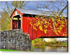 Pennsylvania Country Roads - Dellville Covered Bridge Over Sherman Creek No. 13 - Perry County Acrylic Print