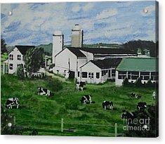 Pennsylvania Holstein Dairy Farm  Acrylic Print