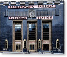 Pennsylvania Railroad Suburban Station Acrylic Print by Olivier Le Queinec