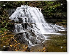 Acrylic Print featuring the photograph Pennsylvania Waterfall by Christina Rollo