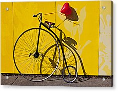Penny Farthing Love Acrylic Print by Garry Gay