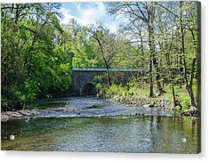 Acrylic Print featuring the photograph Pennypack Creek Bridge Built 1697 by Bill Cannon