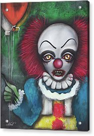 Pennywise Acrylic Print by Abril Andrade Griffith
