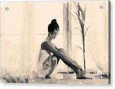 Pensive Ballerina Acrylic Print