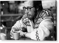 Pensive Brown Student, Louis Restaurant, 1976 Acrylic Print