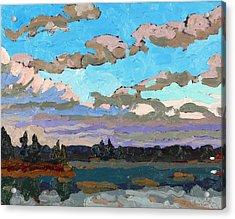 Pensive Clouds Acrylic Print