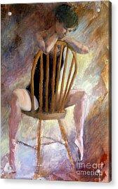 Pensive Dancer Acrylic Print by Ann Radley