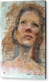 Pensive Acrylic Print by Vicki Ross