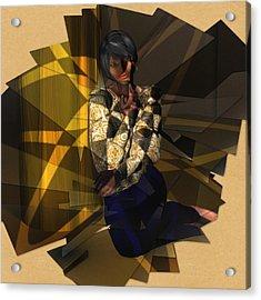 Pensive Woman Acrylic Print
