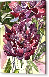 Peonies Acrylic Print by Mindy Newman