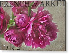 Peonies Acrylic Print by Rebecca Cozart