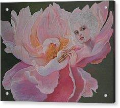 Peony Lamour Acrylic Print by Pamela Mccabe