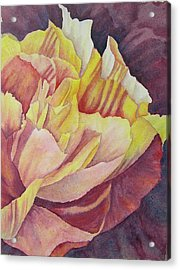 Acrylic Print featuring the painting Peony Pattern by Carolyn Rosenberger