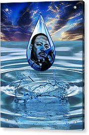 People Changing History Martin Luther King Jr Acrylic Print by Marvin Blaine