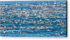 People Competing In The Ford Ironman Acrylic Print by Panoramic Images