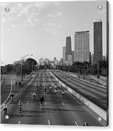 People Cycling On A Road, Bike The Acrylic Print by Panoramic Images