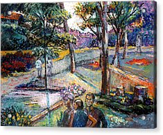 People In Landscape Acrylic Print